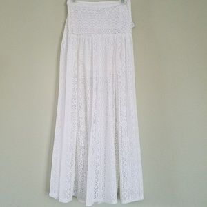 Hollister Long Lace Ivory Skirt size S